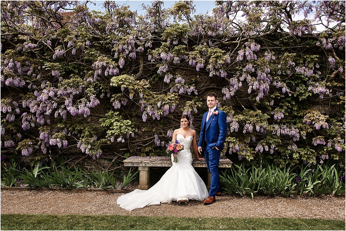 Loseley Park Wedding Photographer with Wisteria