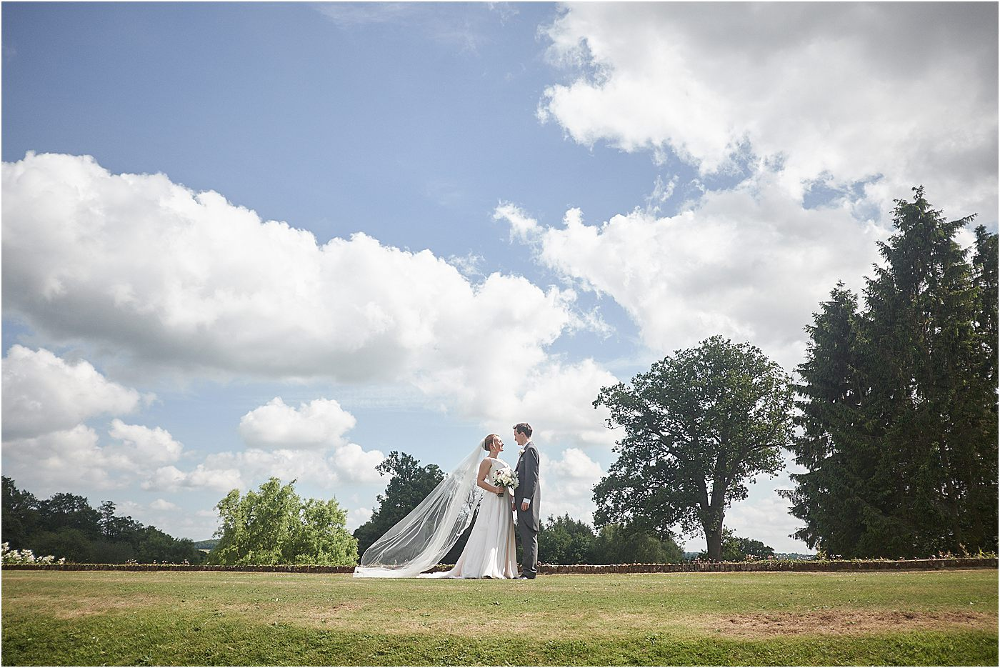 Bride and Groom at Loseley Park Wedding Photographer