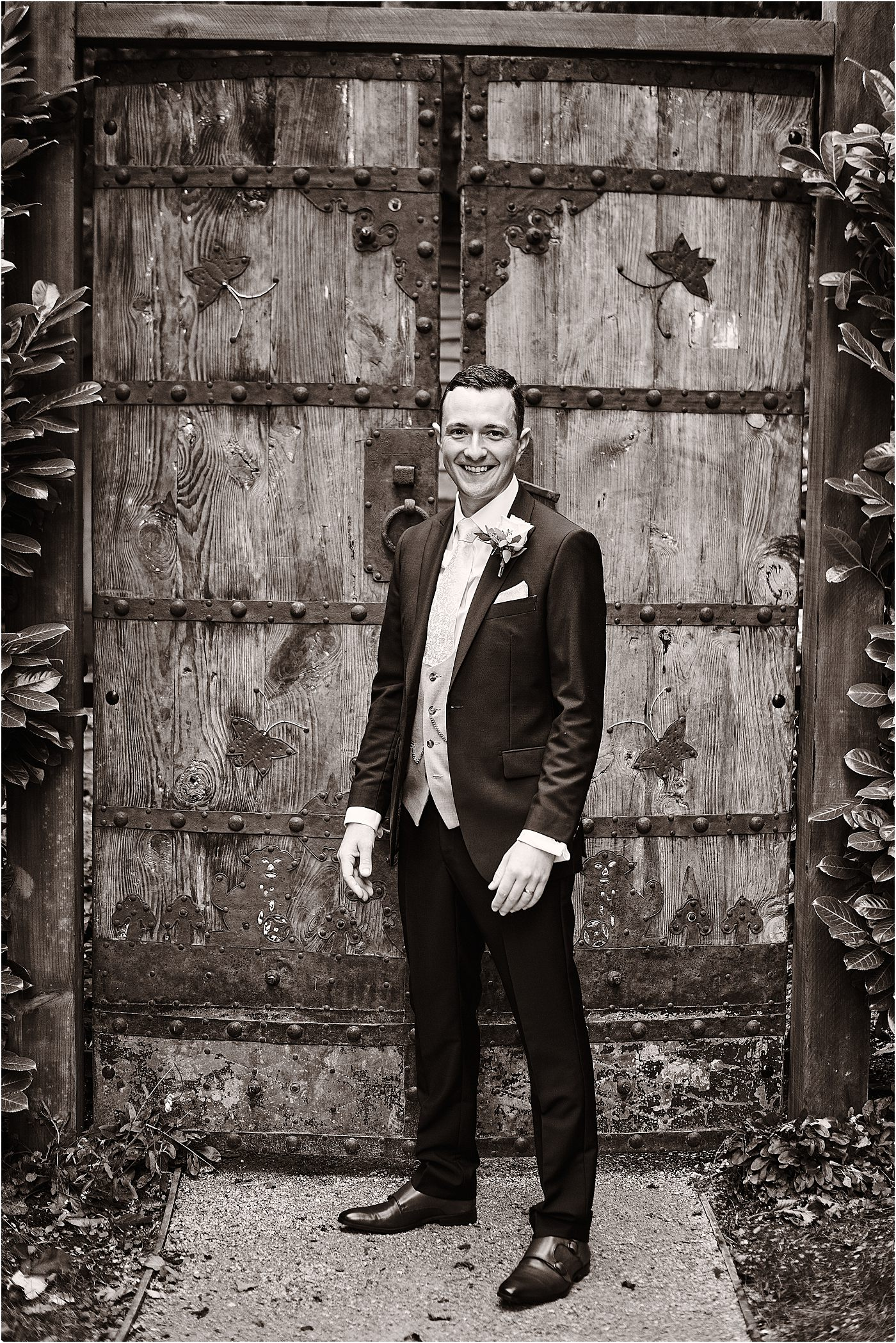 Groom Portrait at Millbridge Court wedding photography by Jason Leaman Photography