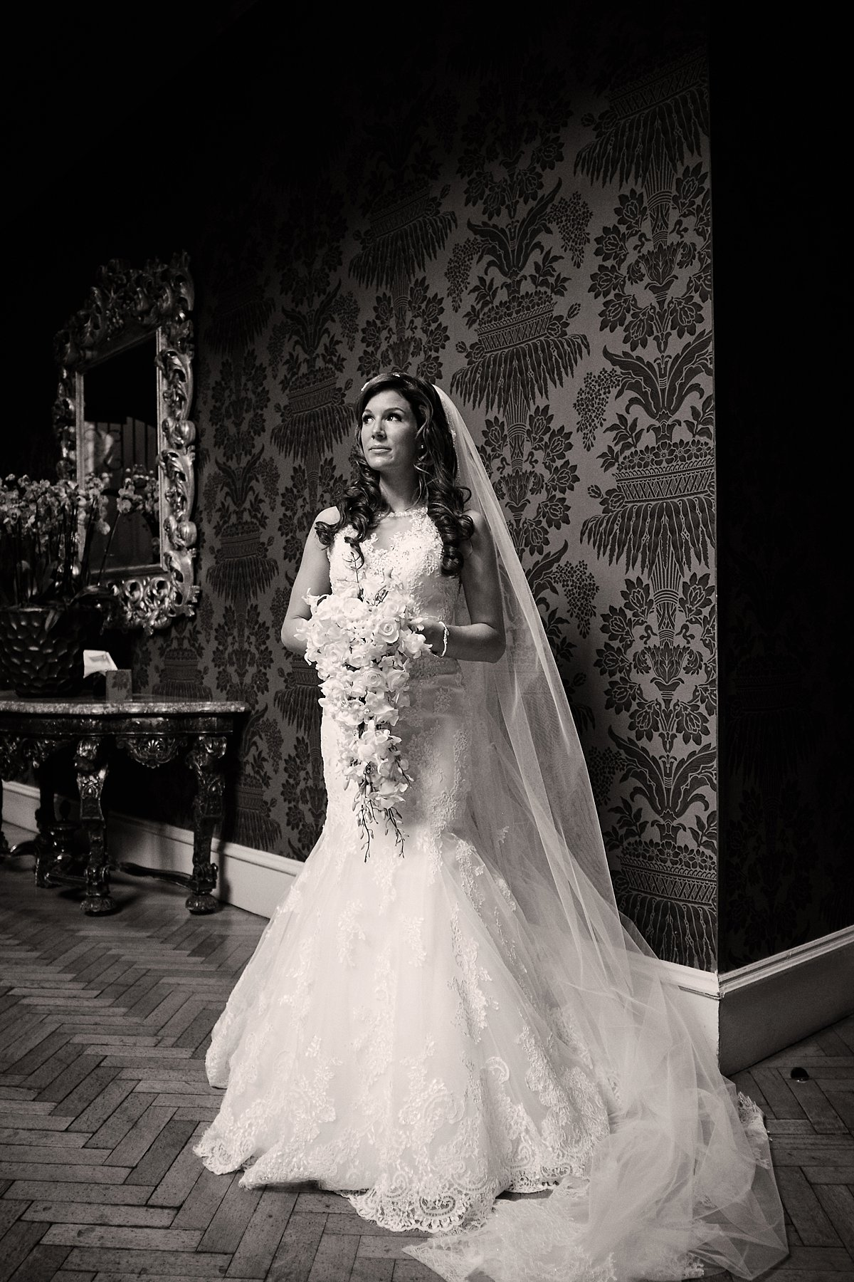 Bride at pennyhill Park Wedding Photographer Jason Leaman Photography