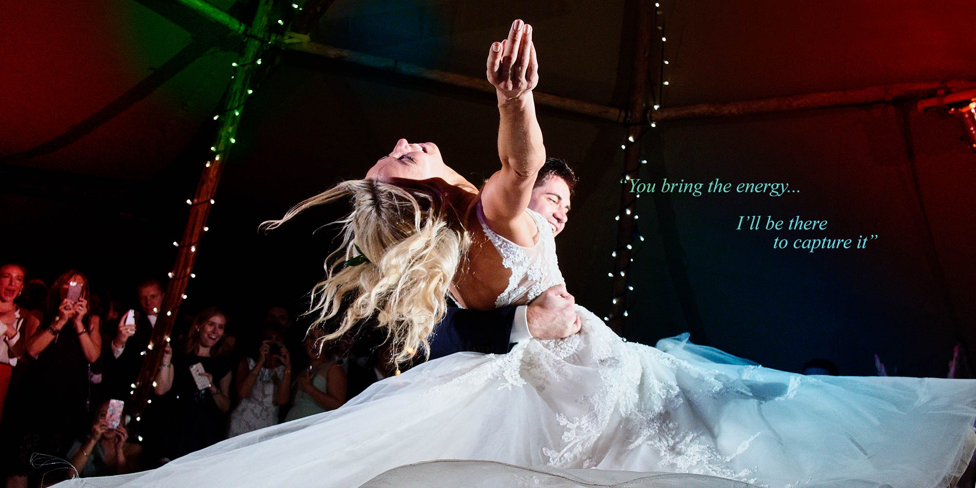 Bride and Groom dazzle in their energetic first dance.